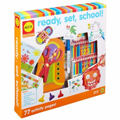 This is an image of a Ready, Set School building set for kids.