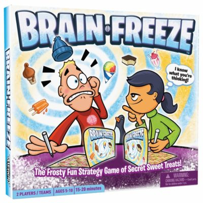 This is an image of a Brain Freeze strategic board game for kids.