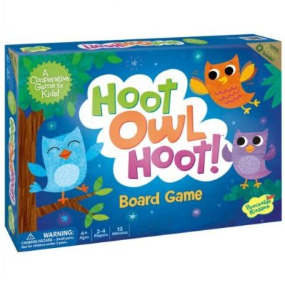 This is an image of a Hoot Owl Hoot matching game for kids.