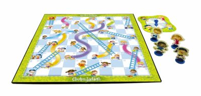 This is an image of a Chutes and Ladders by Hasbro designed for kids.