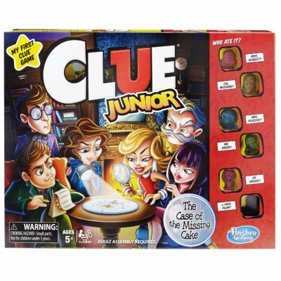 This is an image of a Clue Jr. game for kids.