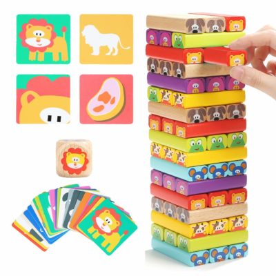 This is an image of a Top Bright classic stacking game for kids.