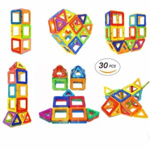 Construction Fun Magnetic Tiles Kit for Toddlers