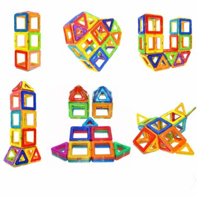 This is an image of a colorful magnetic blocks for kids.