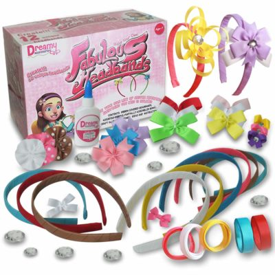 This is an image of a headband kit for little girls.