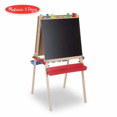This is an image of a wooden art easel by Melissa and Dough.