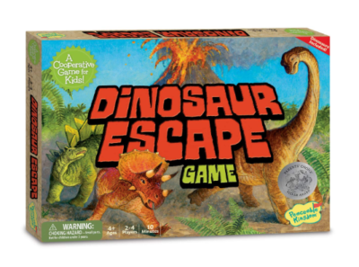 This is an image of a Dinosaur Escape kid's board game.