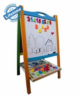 This is an image of a double sided magnetic easel by Elk and Bear.