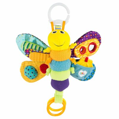 This is an image of a colorful firefly toy for toddlers.