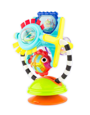 This is an image of a colorful fishy suction cup for babies.