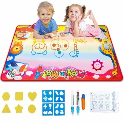 This is an image of a water drawing mat for kids.