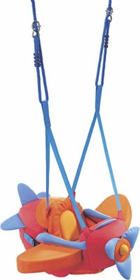 This is an image of an indoor adjustable baby swing.