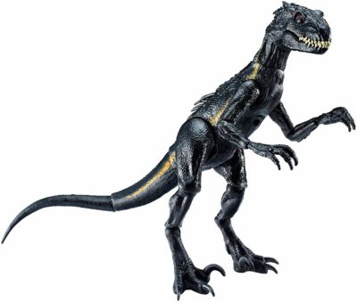 This is an image of an Indoraptor dinosaur by Jurassic World Toys.