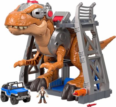 This is an image of a Jurassic World T-rex dino by Fisher Price.