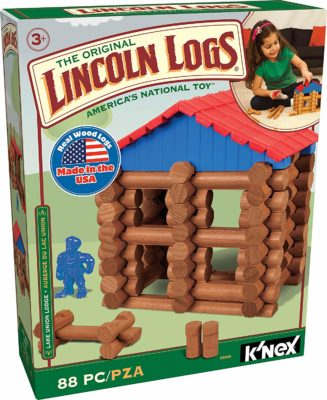 This is an image of a Lake Union Lodge by Lincoln Logs for kids.