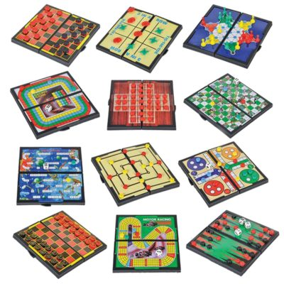 This is an image of a 12 exciting magnetic board games for kids.
