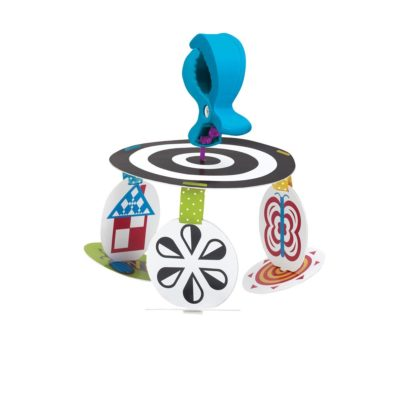 This is an image of a stim mobile to go travel toy for babies.