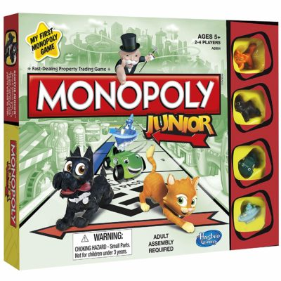 This is an image of a Monopoly Jr. board game.