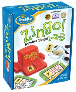 Number Bingo Game for Age 4