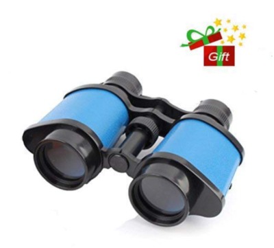 This is an image of a blue binoculars for kids.