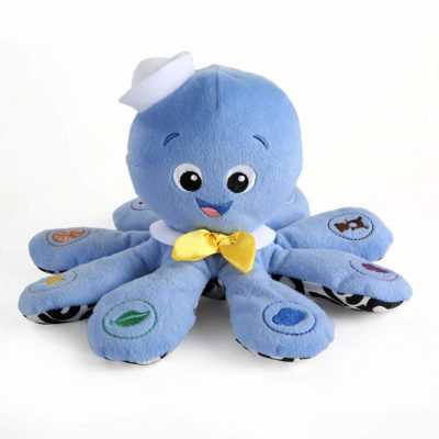 This is an image of an octopus plush toy for babies.