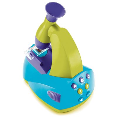 This is an image of a GeoSafari Jr. interactive microscope for kids.