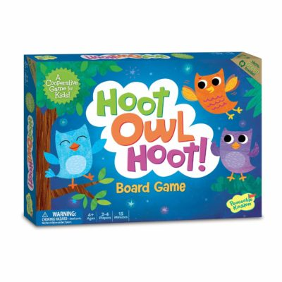 This is an image of a Hoot Owl Hoot matching board game for kids.