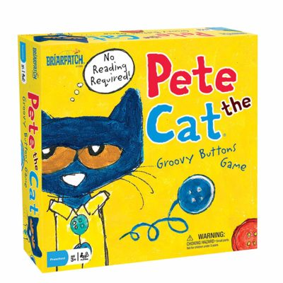 This is an image of a Pete the Cat button game for kids