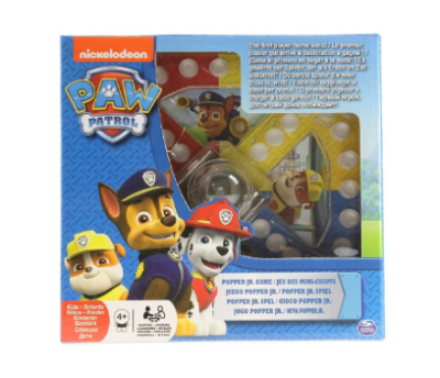 This is an image of a classic Paw Patrol pop up game for kids.