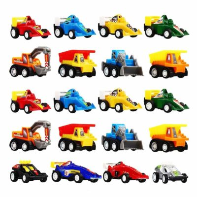 This is an image of a colorful mini pull back vehicles for kids.