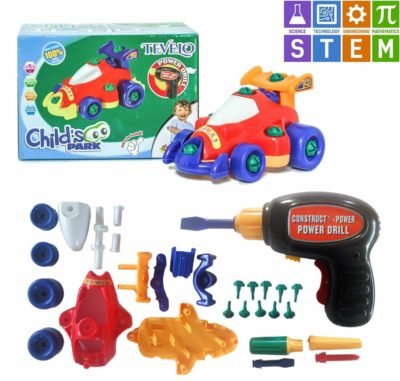 This is an image of a racing car building toy for kids.