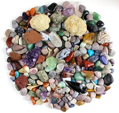 This is an image of a rock and mineral activity kit for kids.