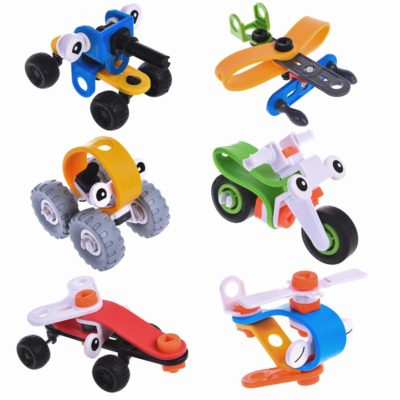 This is an image of a toy vehicle kit for kids.