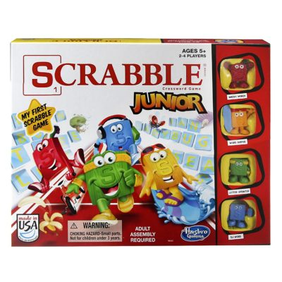This is an image of a Scrabble Jr. board game for kids.