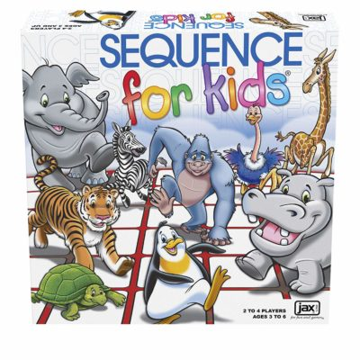 This is an image of a Sequence board game for kids.
