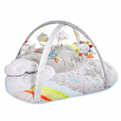 This is an image of a cloud play mat and activity gym for babies.