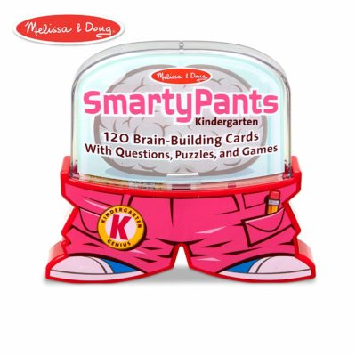 This is an image of a pink 120 pieces smarty pants cards for kids.