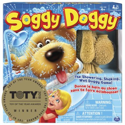 This is an image of an interactive Soggy Doggy toy for kids.