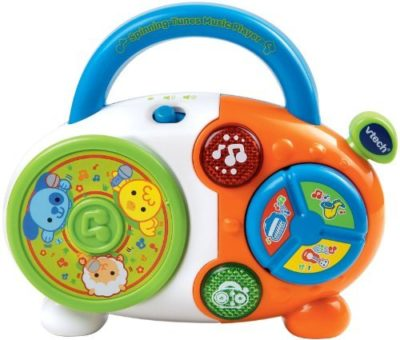This is an image of a musical colorful CD spins for toddlers.