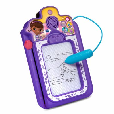 This is an image of a purple talk and trace clipboard for kids.