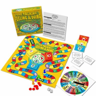 This is an image of a psychotherapy board game for kids.