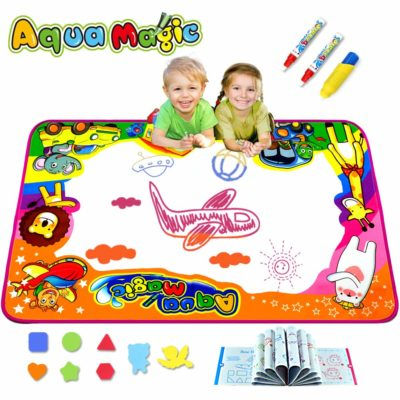 This is an image of a doodle water mat for kids.