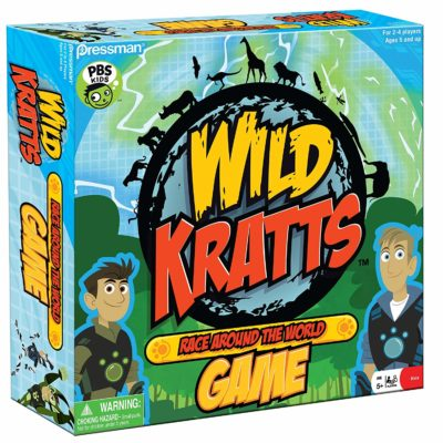 This is an image of a Wild Kratts race game for kids.
