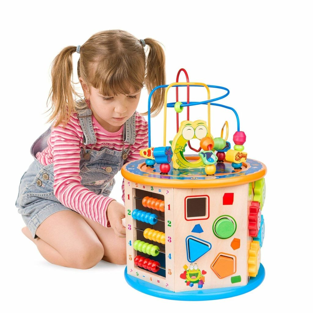 Wooden Activity Cube Bead Maze