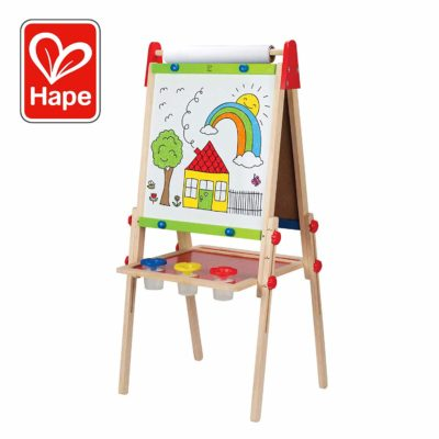 This is an image of an all in one art easel by Hape.