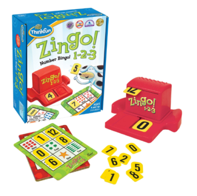 This is an image of a Zingo board game for kids.