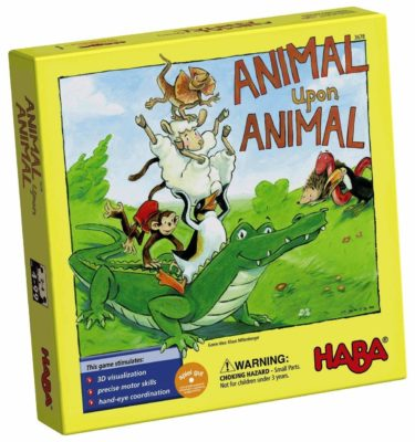 This is an image of an animal upon animal stacking game by Haba.