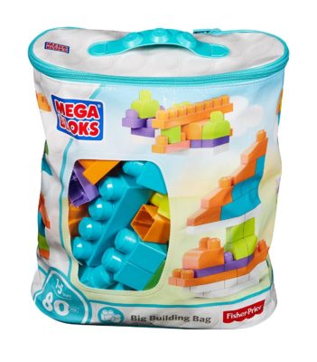 This is an image of a bag of building blocks for kids.