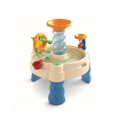 This is an image of a spiral waterpark water table for kids.