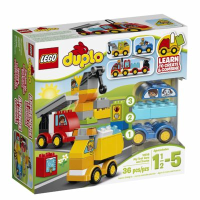 This is an image of a car and truck building set.